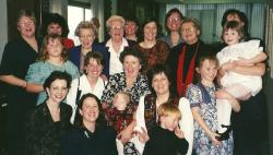 Ladies + Hunter at Margaret Gross' memorial gathering in 1995.