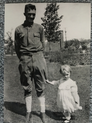 WWI Era photograph of the brother & sister - Harry and Mildred Gross.